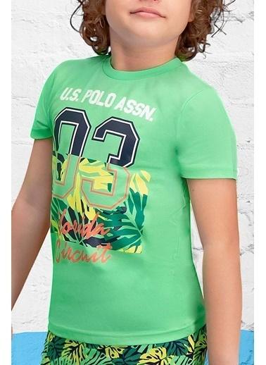 U.S. Polo Assn. U.S. Polo Assn Lisanslı Yeşil Erkek Çocuk Kapri Takım Yeşil